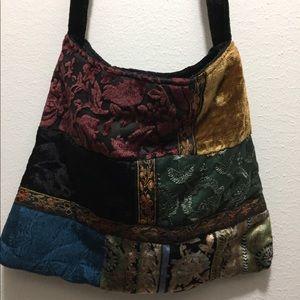 Handbags - Cross-body crush velvet multi-colored purse